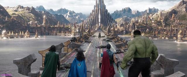 Thor Ragnarok Trailer 2 Screengrab Group Back