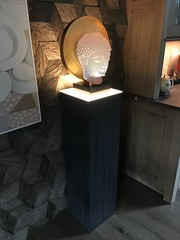 Basalt Textured Pedestal with Ambient Light