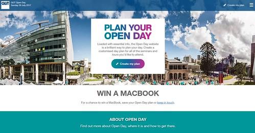 QUT Open Day planner