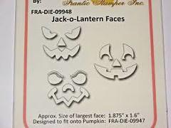 Frantic Stamper - Jack-O-Lantern Faces die