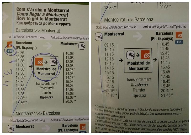 Bate e volta de Barcelona - Montserrat