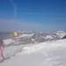 Výhled z vrcholové stanice
