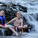 Playing At The Waterfall by Robert F. Carter Travels
