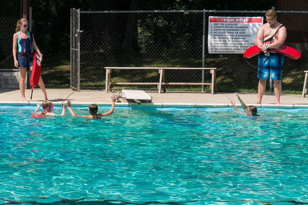 Camp swim test