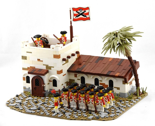 Infantry Barracks, Port Woodhouse - LEGO Soldats rouges