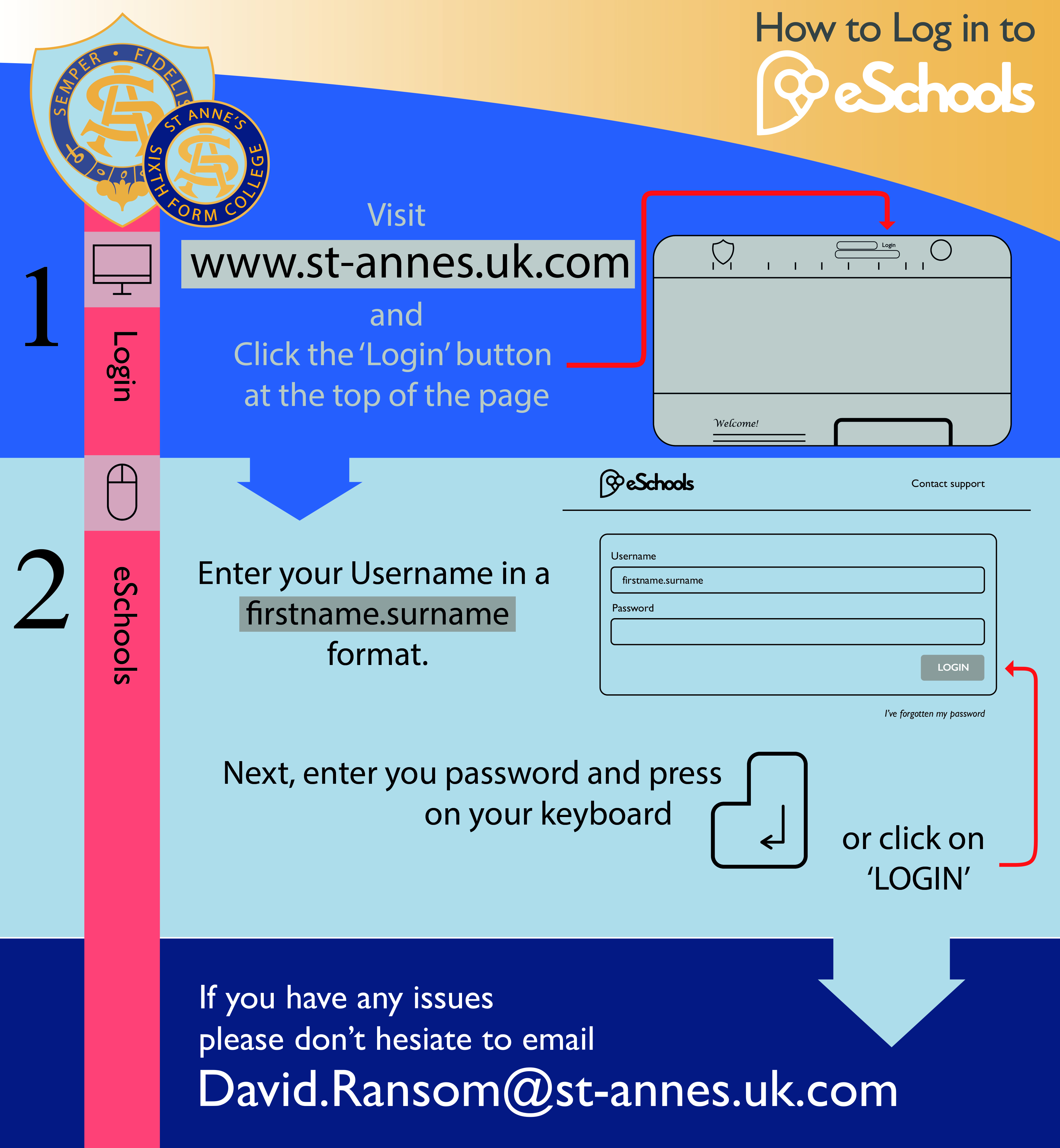 How to Log in to eSchools