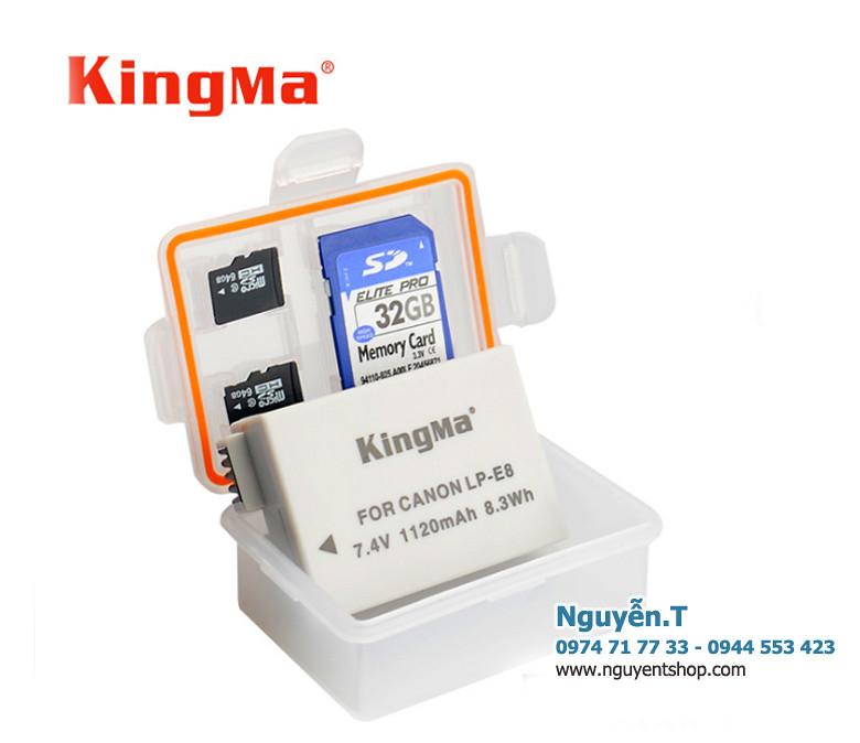 Hộp đựng pin thẻ nhớ ron chống ẩm KingMa