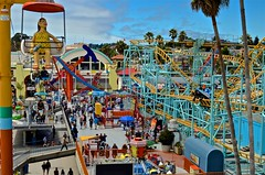 Boardwalk, Santa Cruz, 1907, arcade, rides, beach,