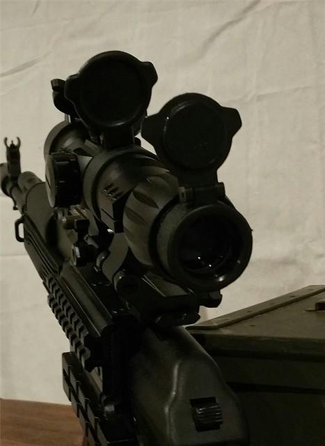 ak47 mount 3x magnifier & red dot4