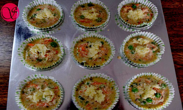 savory semolina muffins before baking