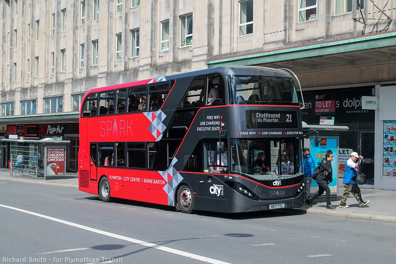 Plymouth Citybus 554 WA17FSZ