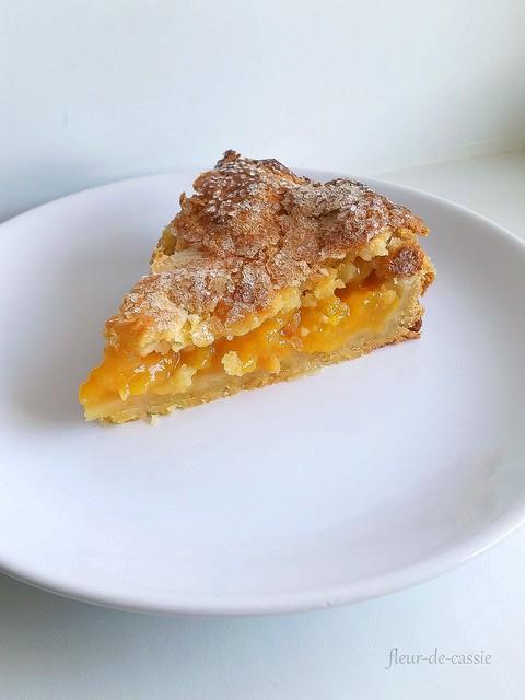 персиковый пирог с коричневым маслом 2