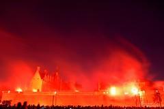 Embrasement du château lors du feu d'artifice du 14 juillet, Nantes :copyright: Bernard Grua