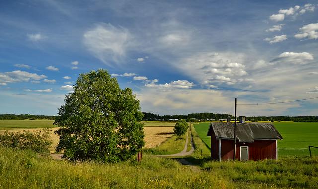 Domestic Animal Farm in Haltiala. Finland