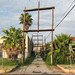 Loved these wooden h-frame powerline structures in this subtropical backalley!