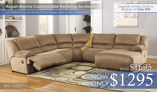Hogan Mocha Sectional 57802-40-46-77-46-07