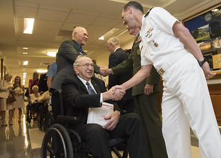 SD, CJCS and CNO Greet Pearl Harbor Survivors
