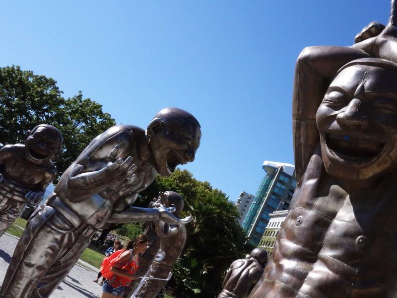 English Bay Beach sculptures