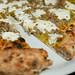 PISTACCHIO E SALSICCIA fresh pistachio pesto, sausage, fresh mozzarella, pecorino romano, basil, extra virgin olive oil ($24)