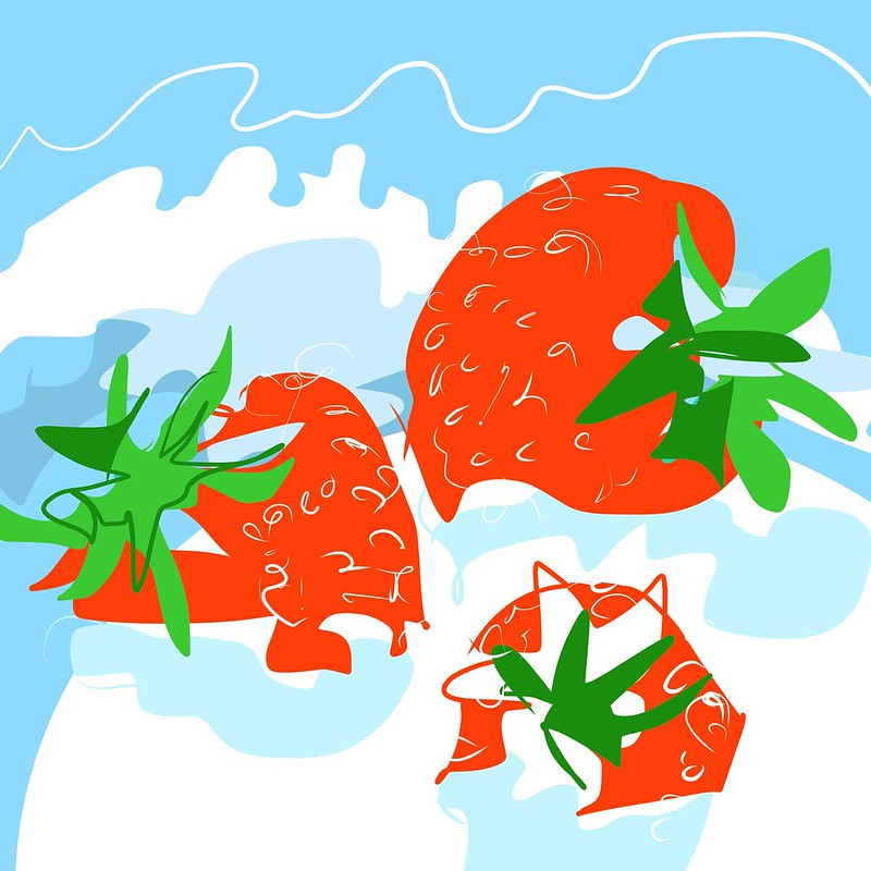 #strawberries and #clouds