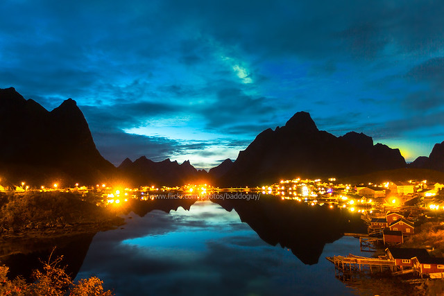Lofoten and Dusk Northern Lighst.