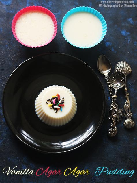 Vanilla agar agar pudding recipe