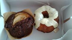 Porto's Bakery: Apple Bran Muffin, Lemon Poppy Seed Cake