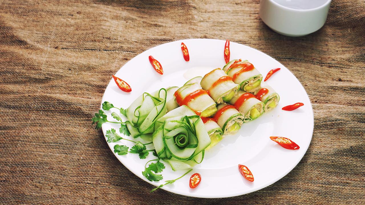 Lowcarb Spicy Tuna Rolls