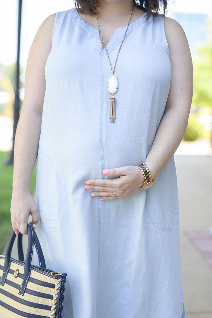Chambray Maxi Dress-@headtotoechic-Head to Toe Chic