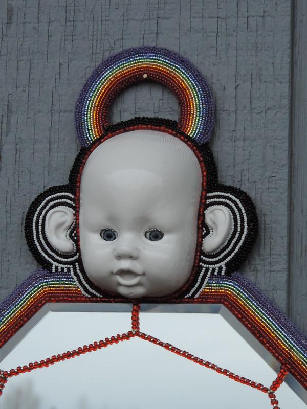 OOAK - Rainbow Dollface Wall MIrror