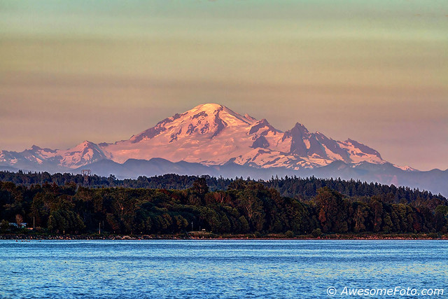 Mt. Baker at sunset