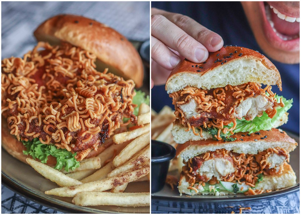 indo mie burger collage