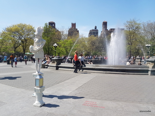 Actors at Washington Square Park