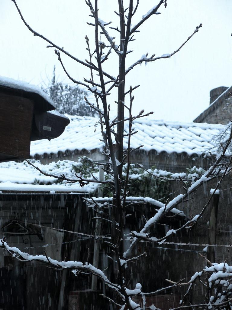 Un día de nieve en Santiago