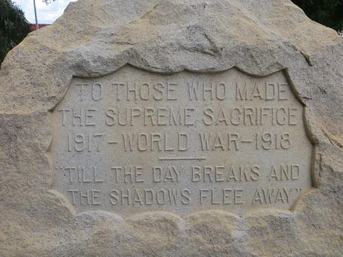 WW I Memorial Inscription Headland AL