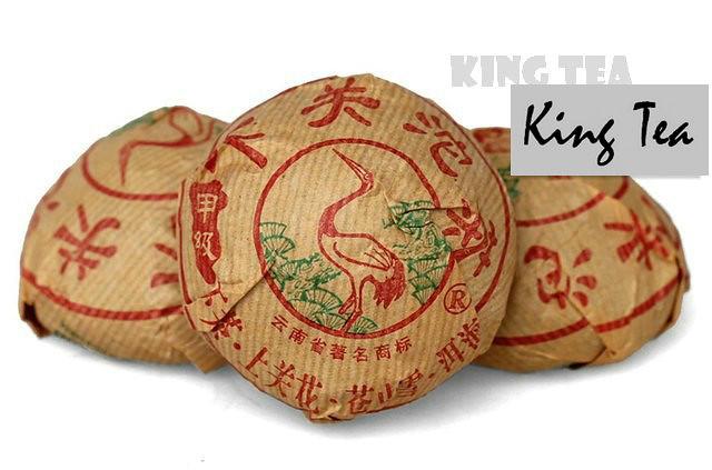 Free Shipping 2007 XiaGuan JiaJi Tuo Bowl 100g * 5 = 500g YunNan MengHai Organic Pu'er Raw Tea Weight Loss Slim Beauty Sheng Cha