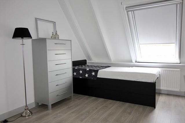 Slaapkamer zwart grijs