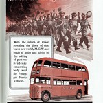 Tue, 2017-07-25 15:47 - MCW were one of the biggest bus and coach body builders - bringing together the vast Metropolitan-Cammell works at Birmingham and those of Weymann's in Surrey. This obviously post-war advert shows a less than usual customer as the 'Midland Red', or the Birmingham and Midland Motor Omnibus Co, often built their own buses. However at times they 'bought in' full bodies or components to assist in production and here is an example.