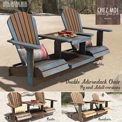 Double Adirondack Chair CHEZ MOI