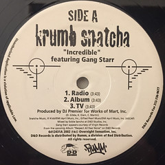 KRUMB SNATCHA:INCREDIBLE(LABEL SIDE-A)