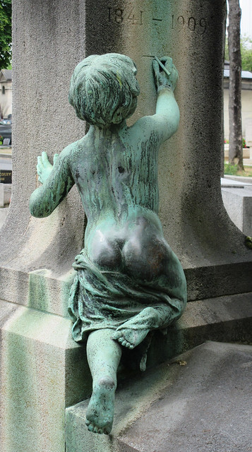 Polished tush - beloved cemetery sculpture