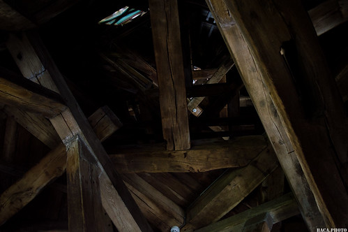 Beam tower in the church