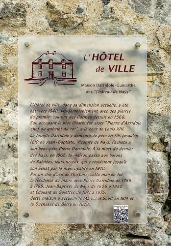 L'Hôtel de Ville Plaque