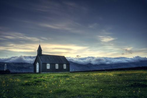 búðir budir iceland búðakirkja budachurch church blackchurch black sky landscape day cloudy cloud sony sonya7 a7 a7ii a7mii alpha7mii ilce7m2 fullframe fe2870mmf3556oss 1xp raw photomatix hdr qualityhdr qualityhdrphotography fav200