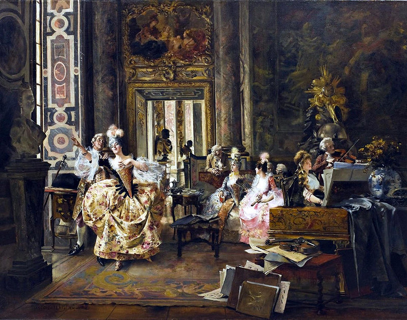 A Concert in Versailles by Francois Flameng