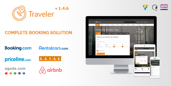Traveler v2.0.0 – Travel/Tour/Booking WordPress Theme