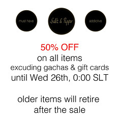 50% sale - 48 hours only