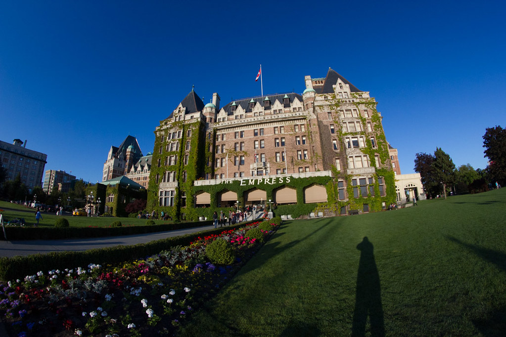 Exterior of the Empress hotel in Victoria
