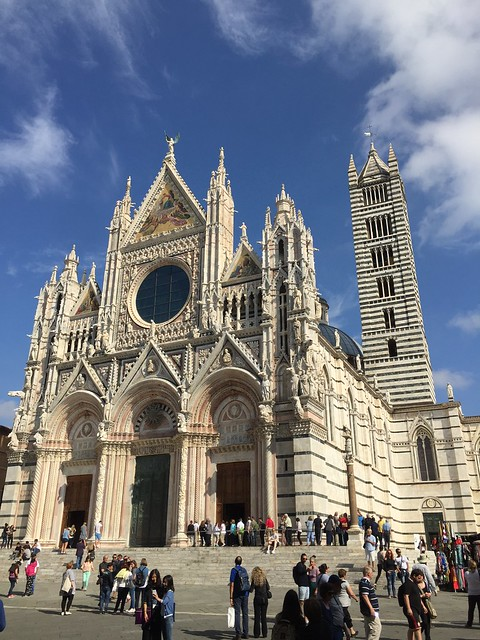 Cathedral in Siena, Tuscany, Italy - Medieval Church - Pink Church