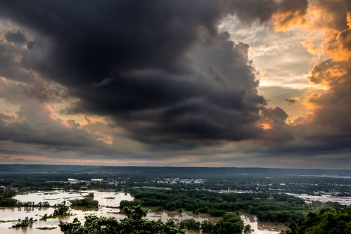 sunset clouds rimofthecity